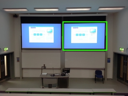 2 projector screens