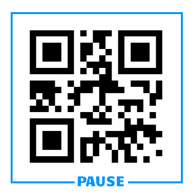 Pause QR Code - displayed to pause live recordings