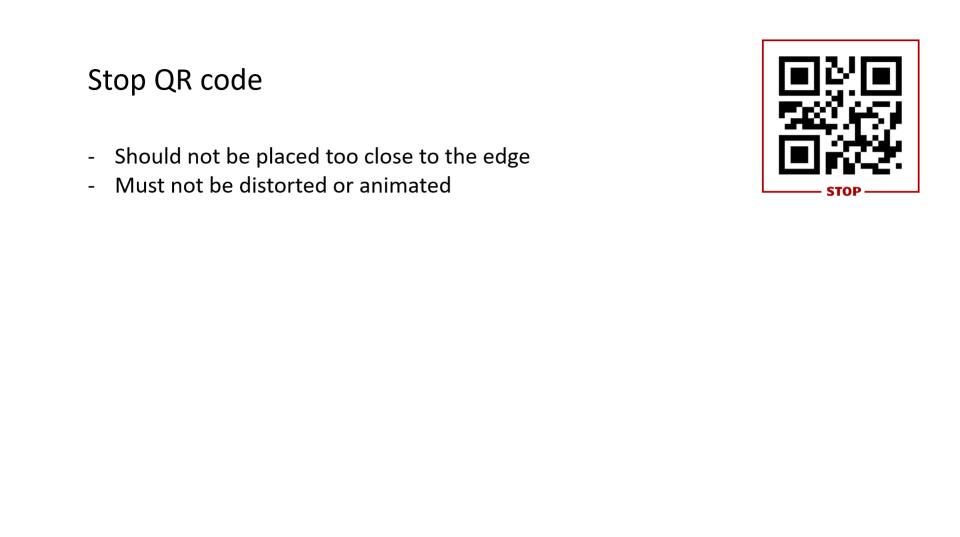 Stop QR code on slide example